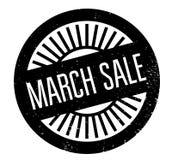 Sello de goma de la venta de marzo Imágenes de archivo libres de regalías