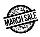 Sello de goma de la venta de marzo Foto de archivo libre de regalías