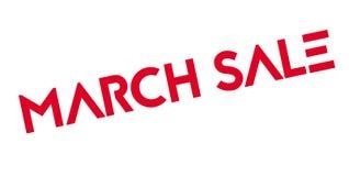 Sello de goma de la venta de marzo Fotos de archivo libres de regalías