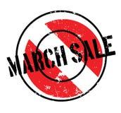 Sello de goma de la venta de marzo Imagenes de archivo