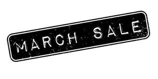Sello de goma de la venta de marzo Fotografía de archivo