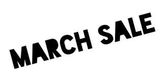 Sello de goma de la venta de marzo Foto de archivo