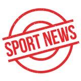 Sello de goma de las noticias del deporte Imágenes de archivo libres de regalías