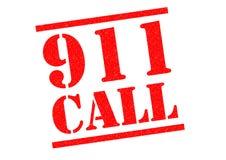 Sello de goma de 911 LLAMADAS Foto de archivo