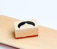 Sello de goma de los bigotes Concepto de la conciencia de la salud del ` s de los hombres de Movember Imágenes de archivo libres de regalías