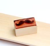 Sello de goma de los bigotes Concepto de la conciencia de la salud del ` s de los hombres de Movember Imagenes de archivo