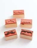 Sello de goma de los bigotes Concepto de la conciencia de la salud del ` s de los hombres de Movember Fotos de archivo libres de regalías