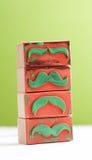 Sello de goma de los bigotes Concepto de la conciencia de la salud del ` s de los hombres de Movember Foto de archivo libre de regalías