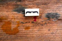 Sello de goma de los bigotes Concepto de la conciencia de la salud del ` s de los hombres de Movember Imagen de archivo libre de regalías