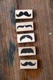 Sello de goma de los bigotes Concepto de la conciencia de la salud del ` s de los hombres de Movember Fotografía de archivo libre de regalías