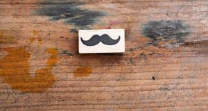 Sello de goma de los bigotes Concepto de la conciencia de la salud del ` s de los hombres de Movember Fotografía de archivo
