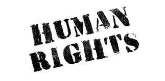 Sello de goma de los derechos humanos imagen de archivo libre de regalías
