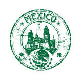 Sello de goma de México stock de ilustración