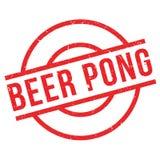 Sello de goma de Pong de la cerveza ilustración del vector