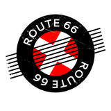 Sello de goma de Route 66 libre illustration