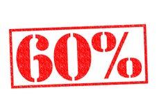 Sello de goma del 60% Imagen de archivo libre de regalías