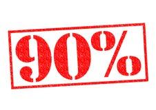 Sello de goma del 90% Fotos de archivo libres de regalías
