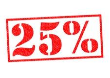 Sello de goma del 25% Fotografía de archivo libre de regalías