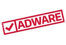 Sello de goma del adware Fotos de archivo libres de regalías