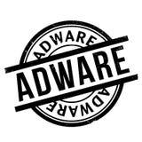Sello de goma del adware Imágenes de archivo libres de regalías