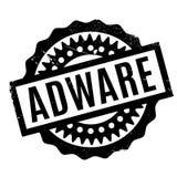 Sello de goma del adware Foto de archivo libre de regalías