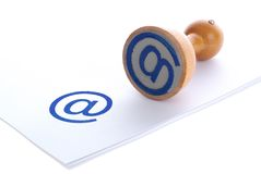 Sello de goma del azul del email Foto de archivo