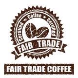Sello de goma del café del comercio justo Foto de archivo