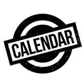 Sello de goma del calendario Imagen de archivo libre de regalías