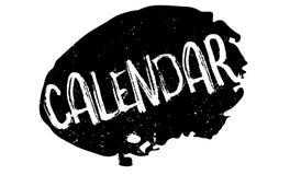 Sello de goma del calendario Fotografía de archivo