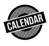 Sello de goma del calendario Imagenes de archivo