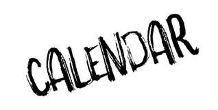 Sello de goma del calendario Foto de archivo libre de regalías