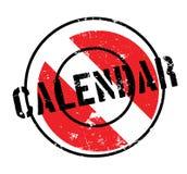 Sello de goma del calendario Imágenes de archivo libres de regalías