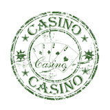Sello de goma del casino Imagenes de archivo