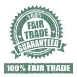 Sello de goma del comercio justo stock de ilustración
