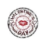 Sello de goma del día de tarjeta del día de San Valentín Fotografía de archivo libre de regalías
