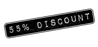 sello de goma del descuento del 55 por ciento Fotografía de archivo libre de regalías