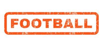 Sello de goma del fútbol Imagen de archivo libre de regalías