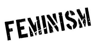 Sello de goma del feminismo stock de ilustración