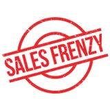 Sello de goma del frenesí de las ventas Imagenes de archivo