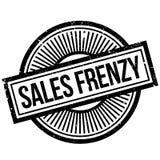 Sello de goma del frenesí de las ventas Fotografía de archivo