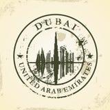 Sello de goma del Grunge con Dubai, UAE