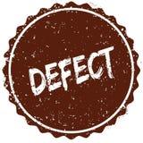 Sello de goma del Grunge con el DEFECTO del texto escrito dentro del sello ilustración del vector