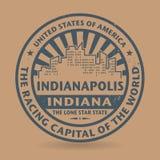 Sello de goma del Grunge con el nombre de Indianapolis, Indiana libre illustration