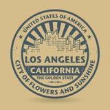 Sello de goma del Grunge con el nombre de Los Ángeles, California stock de ilustración