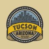 Sello de goma del Grunge con el nombre de Tucson, Arizona libre illustration