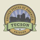 Sello de goma del Grunge con el nombre de Tucson, Arizona ilustración del vector