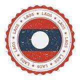 Sello de goma del Grunge con el ` s de Lao People Democratic stock de ilustración