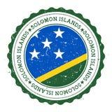 Sello de goma del Grunge con la bandera de Solomon Islands Foto de archivo