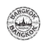 Sello de goma del grunge de Bangkok Fotos de archivo libres de regalías