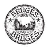 Sello de goma del grunge de Brujas Foto de archivo libre de regalías